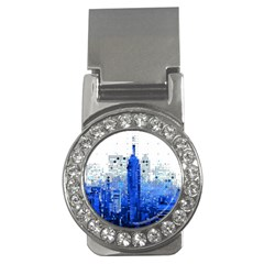 Skyline Skyscraper Abstract Points Money Clips (cz)