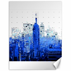 Skyline Skyscraper Abstract Points Canvas 12  X 16