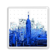 Skyline Skyscraper Abstract Points Memory Card Reader (square)