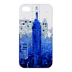 Skyline Skyscraper Abstract Points Apple Iphone 4/4s Premium Hardshell Case by Simbadda