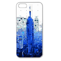 Skyline Skyscraper Abstract Points Apple Seamless Iphone 5 Case (clear)