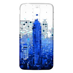 Skyline Skyscraper Abstract Points Samsung Galaxy S5 Back Case (white) by Simbadda