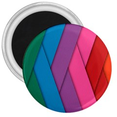 Abstract Background Colorful Strips 3  Magnets by Simbadda