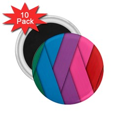 Abstract Background Colorful Strips 2 25  Magnets (10 Pack)  by Simbadda