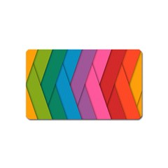 Abstract Background Colorful Strips Magnet (name Card) by Simbadda
