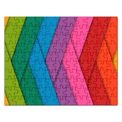 Abstract Background Colorful Strips Rectangular Jigsaw Puzzl