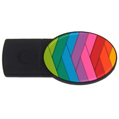 Abstract Background Colorful Strips Usb Flash Drive Oval (4 Gb) by Simbadda