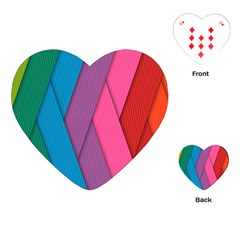 Abstract Background Colorful Strips Playing Cards (heart) by Simbadda