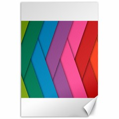 Abstract Background Colorful Strips Canvas 24  X 36  by Simbadda
