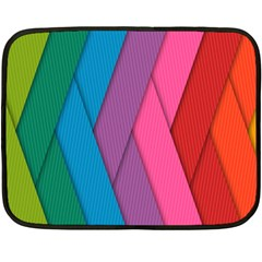 Abstract Background Colorful Strips Fleece Blanket (mini) by Simbadda