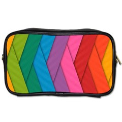 Abstract Background Colorful Strips Toiletries Bag (one Side) by Simbadda