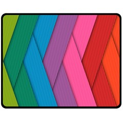 Abstract Background Colorful Strips Fleece Blanket (medium)  by Simbadda