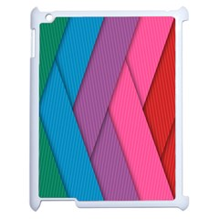 Abstract Background Colorful Strips Apple Ipad 2 Case (white) by Simbadda