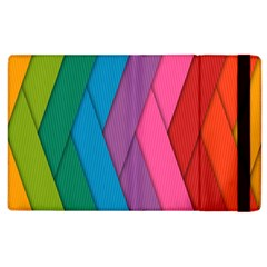 Abstract Background Colorful Strips Apple Ipad 3/4 Flip Case by Simbadda