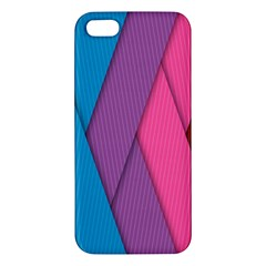 Abstract Background Colorful Strips Apple Iphone 5 Premium Hardshell Case