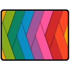 Abstract Background Colorful Strips Double Sided Fleece Blanket (large)  by Simbadda