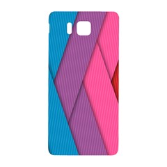 Abstract Background Colorful Strips Samsung Galaxy Alpha Hardshell Back Case