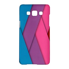 Abstract Background Colorful Strips Samsung Galaxy A5 Hardshell Case  by Simbadda