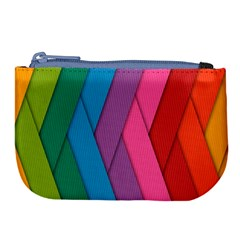 Abstract Background Colorful Strips Large Coin Purse by Simbadda