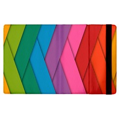 Abstract Background Colorful Strips Apple Ipad Pro 9 7   Flip Case by Simbadda
