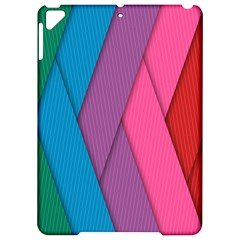 Abstract Background Colorful Strips Apple Ipad Pro 9 7   Hardshell Case by Simbadda