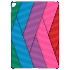 Abstract Background Colorful Strips Apple Ipad Pro 12 9   Hardshell Case by Simbadda