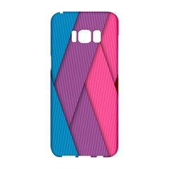 Abstract Background Colorful Strips Samsung Galaxy S8 Hardshell Case  by Simbadda