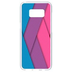 Abstract Background Colorful Strips Samsung Galaxy S8 White Seamless Case by Simbadda