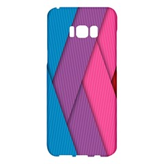 Abstract Background Colorful Strips Samsung Galaxy S8 Plus Hardshell Case  by Simbadda