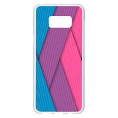 Abstract Background Colorful Strips Samsung Galaxy S8 Plus White Seamless Case by Simbadda