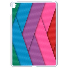 Abstract Background Colorful Strips Apple Ipad Pro 9 7   White Seamless Case by Simbadda