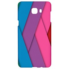 Abstract Background Colorful Strips Samsung C9 Pro Hardshell Case  by Simbadda