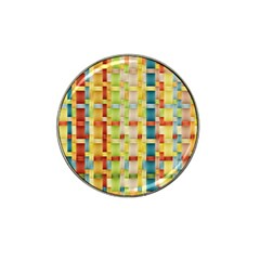 Woven Pattern Background Yellow Hat Clip Ball Marker (10 Pack)