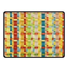 Woven Pattern Background Yellow Fleece Blanket (small)