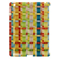 Woven Pattern Background Yellow Apple Ipad 3/4 Hardshell Case (compatible With Smart Cover)