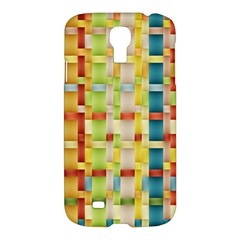 Woven Pattern Background Yellow Samsung Galaxy S4 I9500/i9505 Hardshell Case