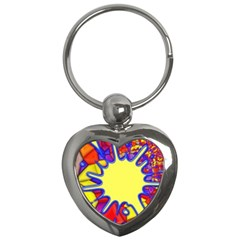 Embroidery Dab Color Spray Key Chains (heart)