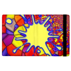 Embroidery Dab Color Spray Apple Ipad 2 Flip Case by Simbadda