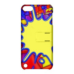 Embroidery Dab Color Spray Apple Ipod Touch 5 Hardshell Case With Stand by Simbadda