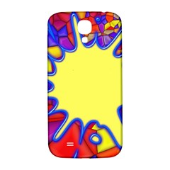 Embroidery Dab Color Spray Samsung Galaxy S4 I9500/i9505  Hardshell Back Case