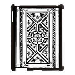 Monastic Antique Scroll Fruit Apple Ipad 3/4 Case (black) by Simbadda