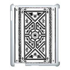Monastic Antique Scroll Fruit Apple Ipad 3/4 Case (white) by Simbadda
