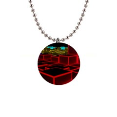 3d Abstract Model Texture Button Necklaces
