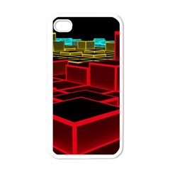 3d Abstract Model Texture Apple Iphone 4 Case (white)