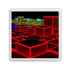 3d Abstract Model Texture Memory Card Reader (square)