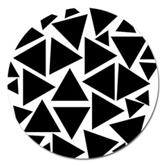 Black Triangle Magnet 5  (round) by Simbadda