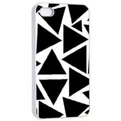 Black Triangle Apple Iphone 4/4s Seamless Case (white)