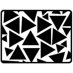 Black Triangle Double Sided Fleece Blanket (large)