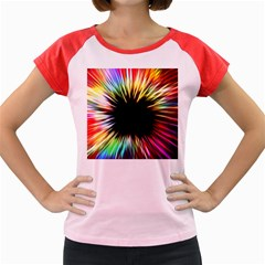 Color Background Structure Lines Women s Cap Sleeve T Shirt