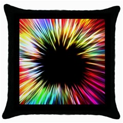 Color Background Structure Lines Throw Pillow Case (black)